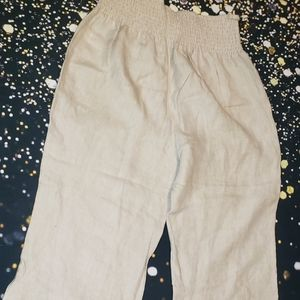 Rachel ashwell 100%linen  wide leg  Size large